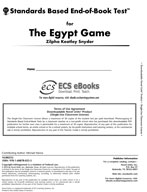 Standards Based End-of-Book Test for The Egypt Game