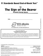 Standards Based End-of-Book Test for The Sign of the Beaver