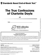 Standards Based End-of-Book Test for The True Confessions of Charlotte Doyle