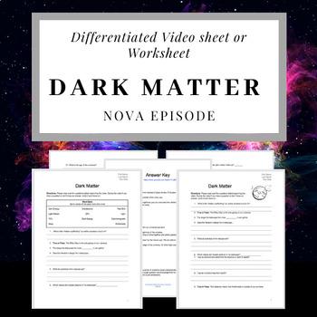 NOVA Dark Matter Video Sheet with Answer Key