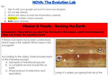 NOVA: Evolution Lab Hyperdoc (Missions 2 & 3) by I Teach ...