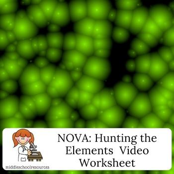 NOVA:  Hunting the Elements video worksheet