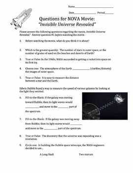 NOVA: Invisible Universe Revealed Movie Guide
