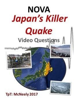 NOVA Japans Killer Quake Video Questions By Mr McNeely TpT - Japan map questions