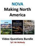 NOVA: Making North America: Origins, Life, Human Video Questions Bundle