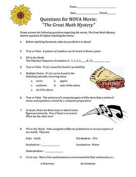 NOVA:  The Great Math Mystery Movie Guide