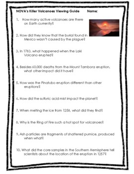 NOVA's Killer Volcanoes Viewing Guide