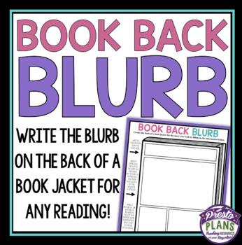 NOVEL ASSIGNMENT BOOK JACKET BLURB WRITING