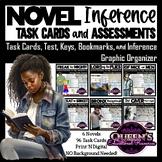 Inference Novel Task Cards, Test,  Answer Keys, Graphic Or