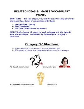 VOCABULARY PROJECT - THREE CONNECTIONS