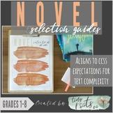 NOVEL SELECTION GUIDE | Grades 1-5 | For Teachers, Parents