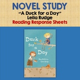 NOVEL STUDY - A Duck for a Day by Meg Mc Kinlay - READING RESPONSE ACTIVITIES