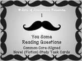 CLOSE READING NOVEL STUDY ANALYSIS TASK CARDS