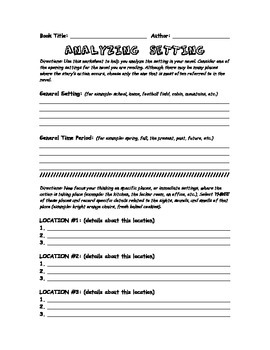 NOVEL WORKSHEETS AND GRAPHIC ORGANIZERS PACKET