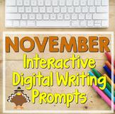 NOVEMBER Bell-Ringer Writing Prompts (Digital Version)