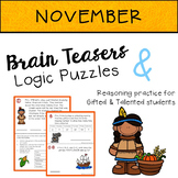 NOVEMBER Brain Teasers & Logic Puzzles