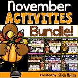 NOVEMBER Bundle Writing Build the Sentence Veterans Day Thanksgiving and Seasons