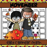 NOVEMBER Daily Calendar Math for Kinders