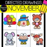 NOVEMBER Directed Drawings {Made by Creative Clips Clipart}