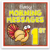 November 1st Grade Morning Messages