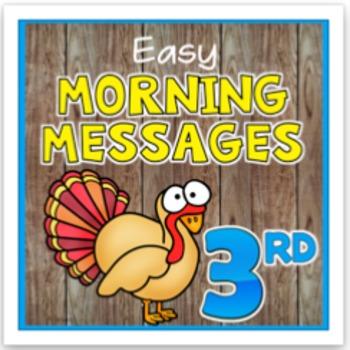 November 3rd Grade Morning Messages