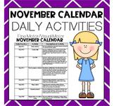 NOVEMBER Fine Motor/Visual Motor (Daily Activities)
