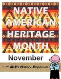 NOVEMBER   Louisiana Native American Heritage Month