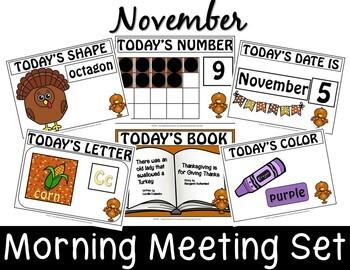 NOVEMBER  MORNING MEETING CENTER