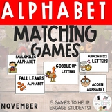 NOVEMBER Monthly Alphabet Letter Recognition Games