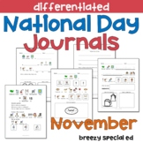 NOVEMBER National Days Differentiated Journals for special