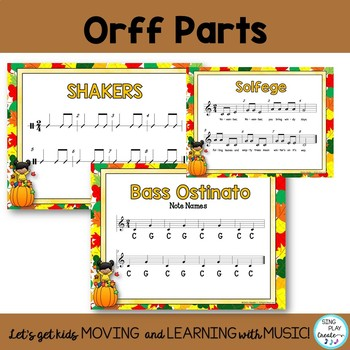 """Music Class Orff and Kodaly Song and Lesson: """"November, November"""" d-m-s-l, K-3"""