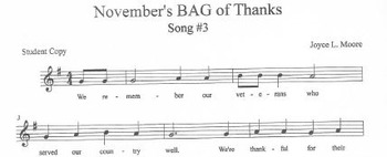 NOVEMBER SPECIAL Song, Easy Chimes & Bells Arrangement & 8 BAG Songs