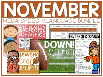 NOVEMBER: Speech/Language Bundle