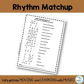 November Music Class Worksheets: Turkey Rhythms and Dynamics