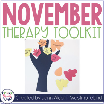 NOVEMBER Theme Therapy for Speech and Language