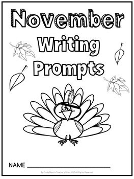 NOVEMBER Writing Prompts Journal