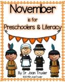 NOVEMBER is for Preschoolers (PreK & Kindergarten)