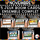 NOVEMBRE French BOOM Cards - BUNDLE 5 Jeux (NOVEMBRE)