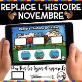 NOVEMBRE French BOOM card-Replace l'histoire en ordre. (NO