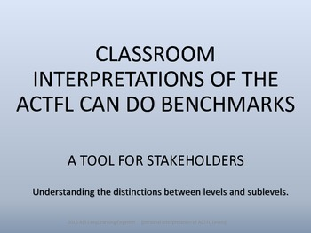 NOVICE TO SUPERIOR CAN DO BADGES/ACTFL LEVELS