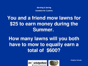 NOW YOU KNOW Math Edition (Money)