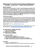NPEN Handout:  Movement in the Elementary General Music Classroom