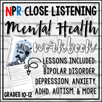 Mental Health Worksheet Teaching Resources Teachers Pay Teachers