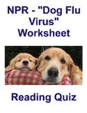 """NPR - """"Dog Flu Virus"""" worksheet"""