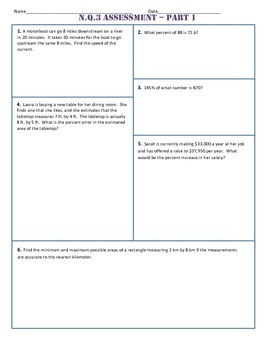 N.Q.3 Part 1 Common Core Test/Assesment
