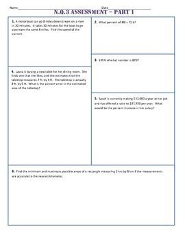 N.Q.3 Part 1 Common Core Test/Assesment