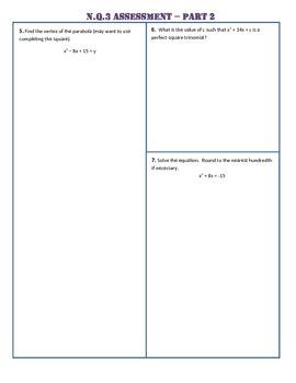 N.Q.3 Part 2 Common Core Assessment/Test