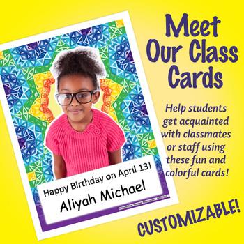 NSD1512 Kaleidoscope Editable Meet Our Class Cards