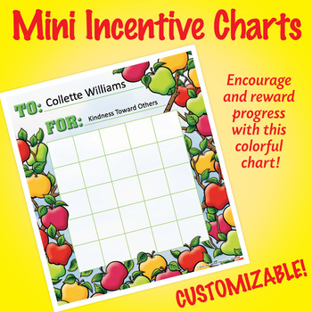 NSD2208 Apples Editable Mini Incentive Charts