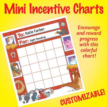 NSD2200 Farm Animals Editable Mini Incentive Charts